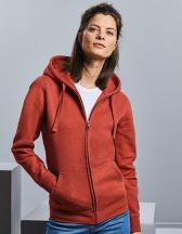 Ladies` Authentic Melange Zipped Hood Sweat